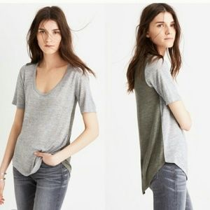 Madewell color block top!